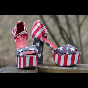 Jeffrey Campbell El Carmen Stars & Stripes Heels